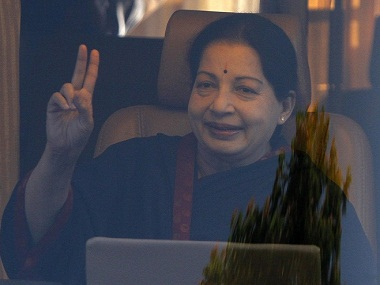 J Jayalalithaa, chief minister of Tamil Nadu. Reuters
