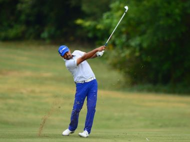 Anirban Lahiri during the Venetian Macao Open. Twitter/ Asian Golf