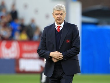 Arsene Wenger and celebrating his twenty years in charge of Arsenal. AFP