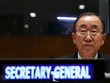 A file image of UN chief Ban Ki-Moon. Reuters