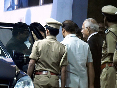 Tamil Nadu's Acting Governor C Vidyasagar Rao at Apollo hospital in Chennai on Saturday, where the Tamil Nadu Chief Minister Jayalalithaa is admitted following fever and dehydration on 23 September 2016.  PTI