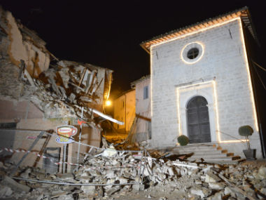 Damage caused by the earthquake. AP