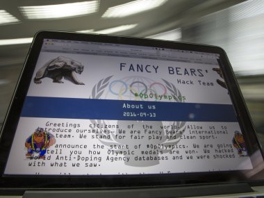 A screenshot of the Fancy Bears website fancybear.net. AP