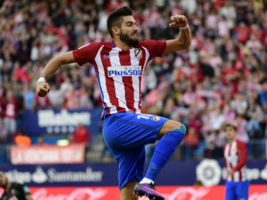 Carrasco's hattrick ensured Atletico Madrid's huge victory against Granada. AFP