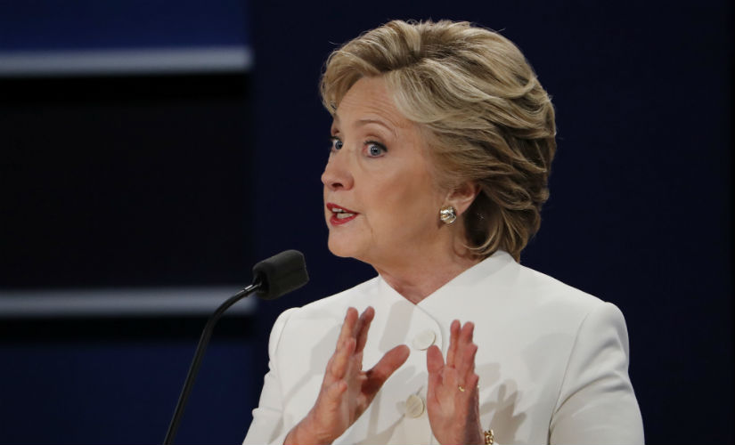 Hillary Clinton at the third presidential debate. Reuters