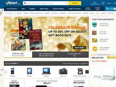 Flipkart screen grab
