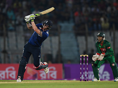 England's Ben Stokes in action against Bangladesh in the third ODI. Getty Images
