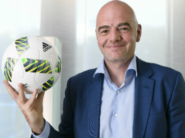 File photo of Gianni Infantino. AFP