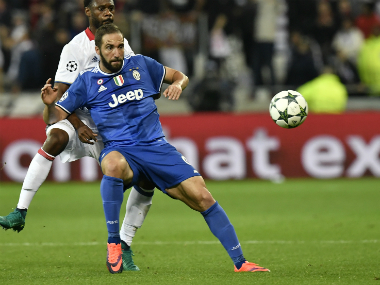 Juventus'purchase of Gonzalo Higuain from Napoli could be the cause of crowd trouble. AFP
