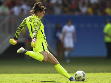 File photo of Hope Solo. AFP