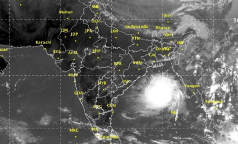 Latest satellite image of the brewing storm. Image Courtesy: IMD
