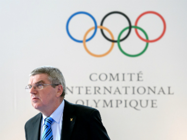 IOC President Thomas Bach at the summit for reforming the anti-doping system. AFP