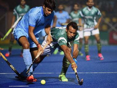 File photo of India- Pakistan Asian Champions Trophy tie. Twitter/ Spurs_India