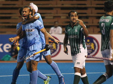 File image from India's 3-2 against Pakistan in the Asian Champions Trophy 2016. AFP