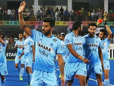 Indian players celebrate after their win against South Korea. News18