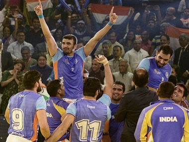 Indian players celebrate after winning the Kabaddi World Cup 2016. PTI
