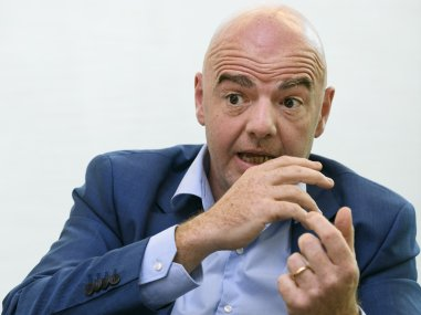 Fifa president Gianni Infantino during an interview. AFP
