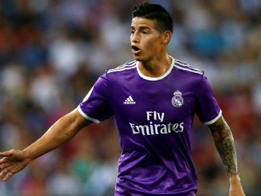 Trying to find his lost touch. File photo of James Rodriguez. Reuters