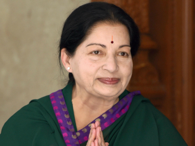 File photo of Jayalalithaa. PTI