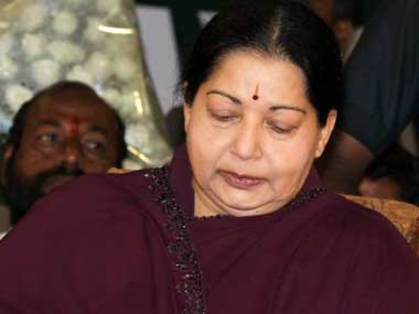 File photo of Tamil Nadu chief minister J Jayalalithaa. AFP