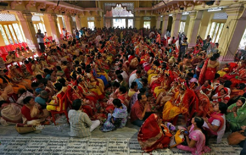 Kumari Puja in Kolkata. Image source: Reuters