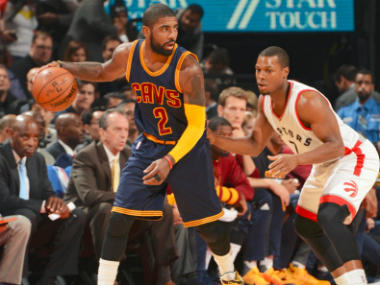 Kyrie Irving put on a fine display against the Raptors. Image credit: Twitter/NBA