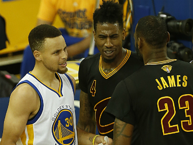 LeBron James (R) and Steph Curry (L) will be vital to their teams' title bid this season. AFP