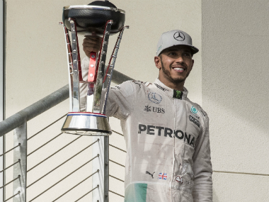 Lewis Hamilton secured his 50th Formula One victory on Sunday. Reuters