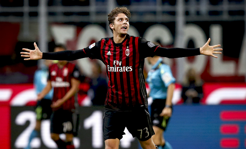 Locatelli's goal secured a 1-0 victory for AC Milan. AFP