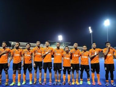 Malaysian hockey team. Image courtesy: Twitter/@hockeymalaysia