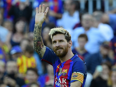 Messi shone in Barcelona's victory against Deportivo La Coruna. AFP