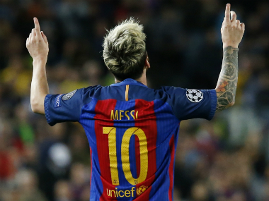 Lionel Messi's stunning display earned Barcelona a comfortable victory. AFP