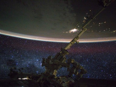 The stars in the Milky Way are seen in this picture by NASA astronaut Scott Kelly taken from the International Space Station. Reuters