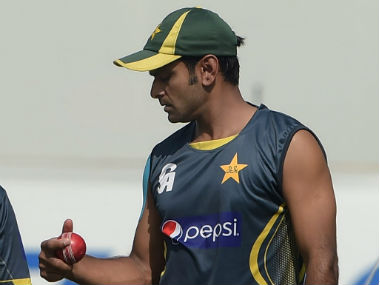 Mohammad Hafeez was served a 12-month bowling suspension by the ICC in July 2015. AFP