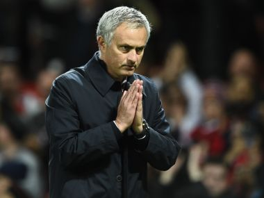 Manchester United's Jose Mourinho thanks supporters. AFP