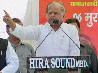 Samajwadi Party chief Mulayam Singh Yadav. PTI