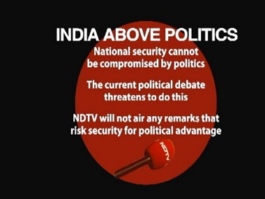 The graphic by NDTV that played on the 9 pm. Courtesy: Twitter/@ndtv