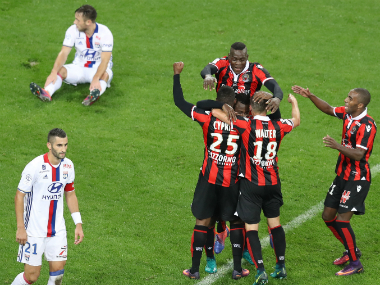 Nice defeated a 10-man Monaco to continue their unbeaten run. AFP