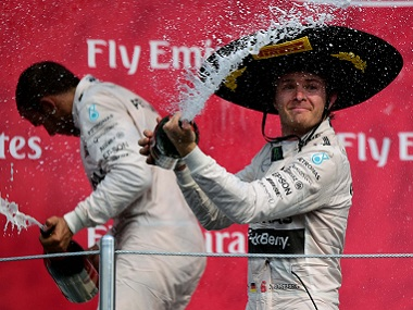 Nico Rosberg won the 2015 Mexican Grand Prix ahead of teammate Lewis Hamilton. AFP