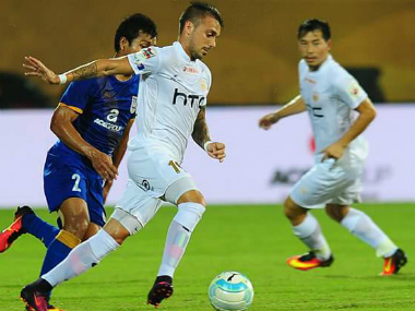 NorthEast United FC can top the table with both a win or a draw against ATK. Image credit: Twitter/NEUtdFC