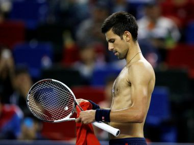 Novak Djokovic during his loss to Roberto Bautista Agut. Reuters