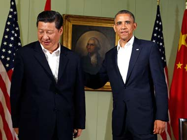 US President Barack Obama with Chinese President Xi Jinping. Reuters
