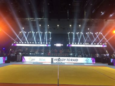 Kabaddi court at The Arena. Twitter@StarSports