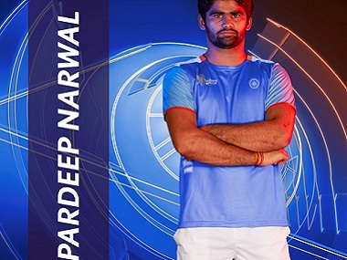 Pardeep Narwal. Image courtesy: Star Sports
