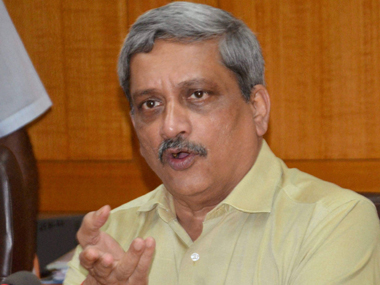 Union Defence Minister Manohar Parrikar. File photo. PTI