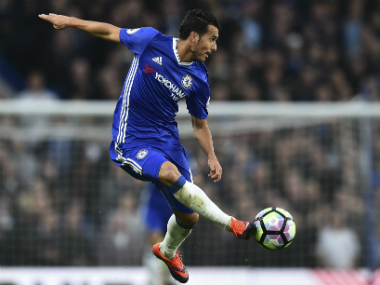 Pedro scored in Chelsea's 4-0 rout of Manchester United. AFP