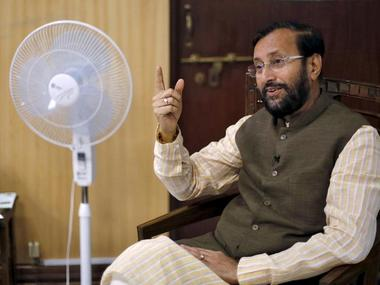 File photo of Prakash Javadekar. Reuters