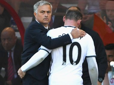 Manchester United's Jose Mourinho with Wayne Rooney. Getty Images