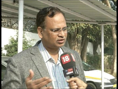 A file photo of Satyendra Jain. Pic courtesy: CNN News 18