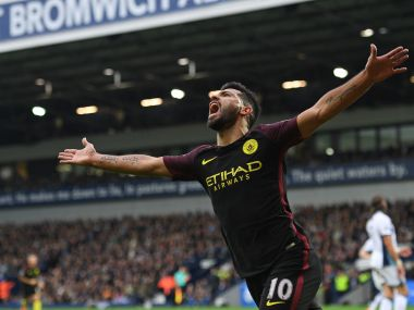 Sergio Aguero scored a brace to help Manchester City end six-game winless run. AFP
